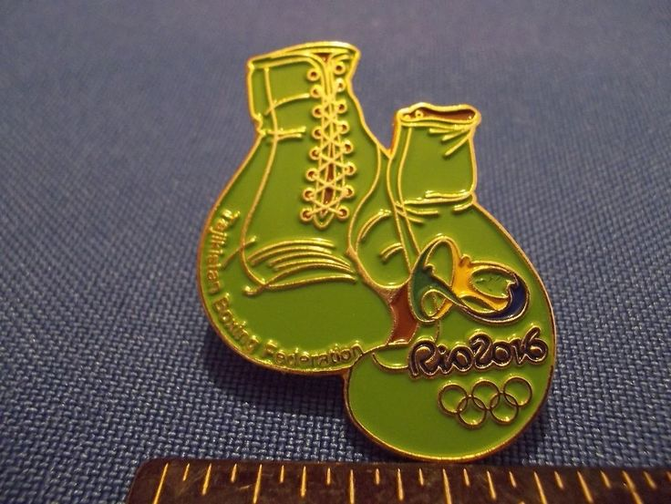 2016 Rio Olympic NOC Pin Tajikistan Team Boxing Dated Numbered Only 200