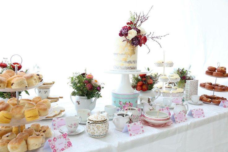 Gender neutral baby shower tea party