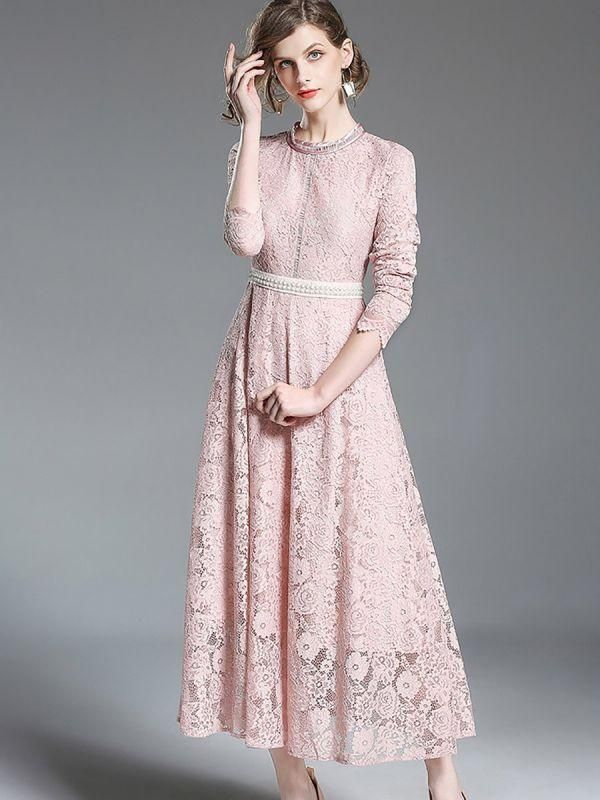78989d8cfc4 A-line Casual Guipure lace Solid Lace Dresses in 2019