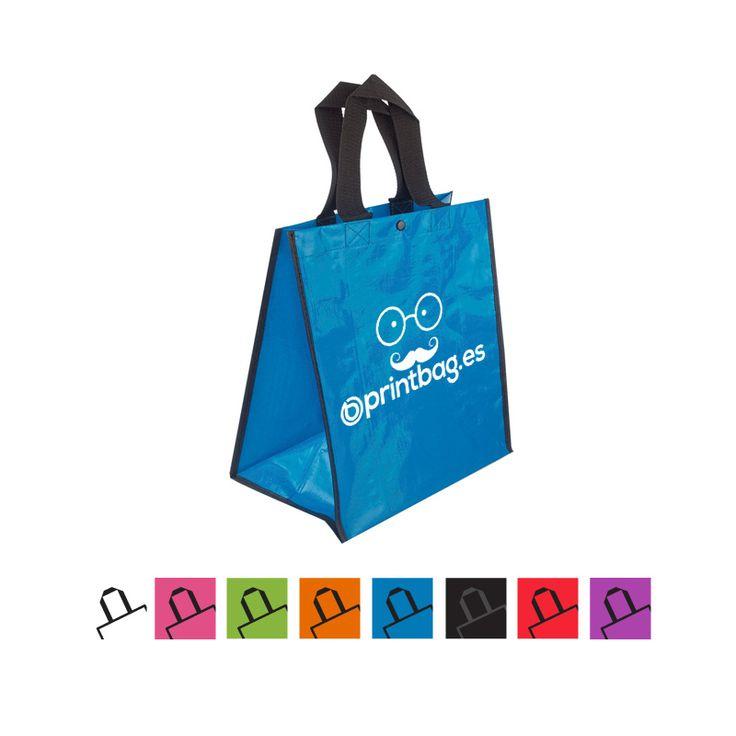 Bolsas ecológicas personalizadas fabricadas en polipropileno azules para la compra.