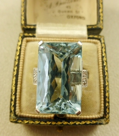 Antique Aquamarine Ring (similar to the one I wanted in Germany)
