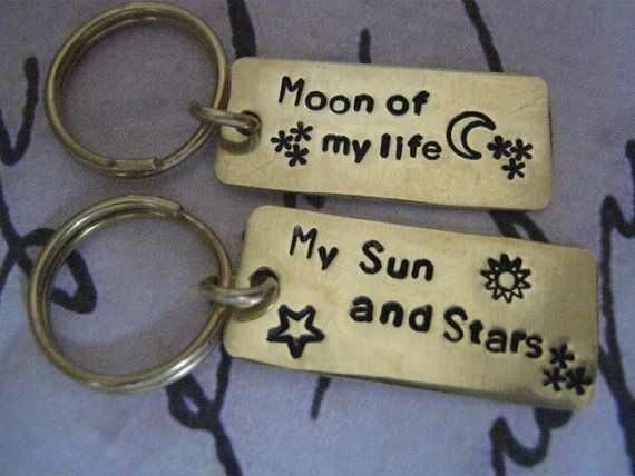 Couples jewelry Moon of My Life My Sun and by giftforbestfriends, $15.00