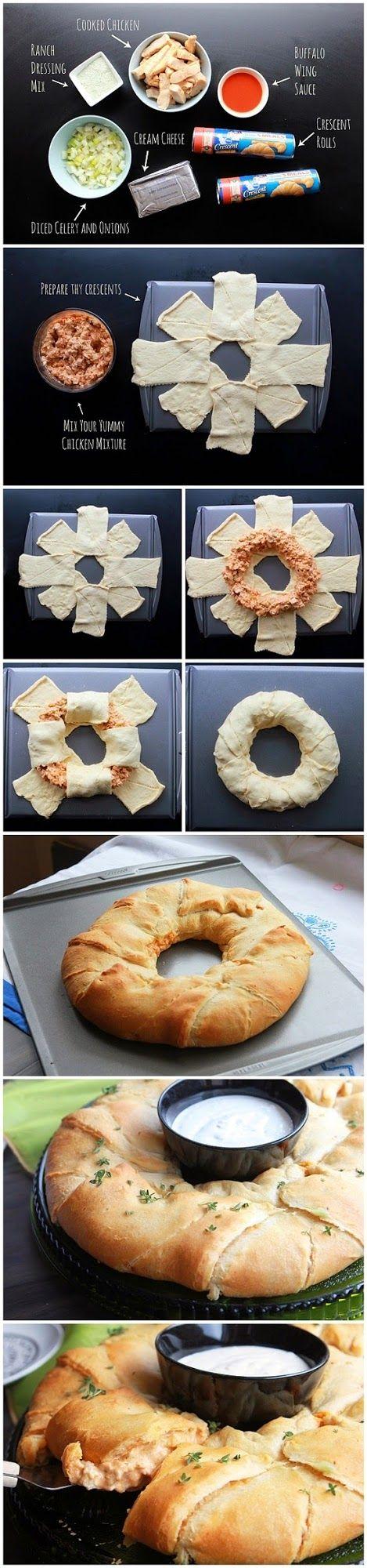 Buffalo Chicken Crescent Ring | Food Blog
