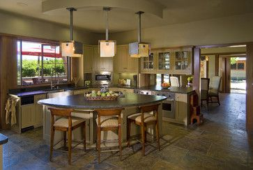 Kitchen Triangle Shaped Island Ideas Curved Kitchen