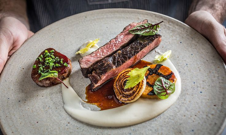 Short ribs with cipollini onions, grilled celery root, glazed and braised beef tongue, and celery root puree by chef Lee Wolen of Boka. © Galdones Photography - See more at: http://theartofplating.com/editorial/chef-lee-wolen-in-chicago/#sthash.FN03dYwH.dpuf