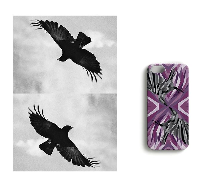 Greedy shadow //Where's the Bling? iPhone case designed by Katariina Karjalainen.
