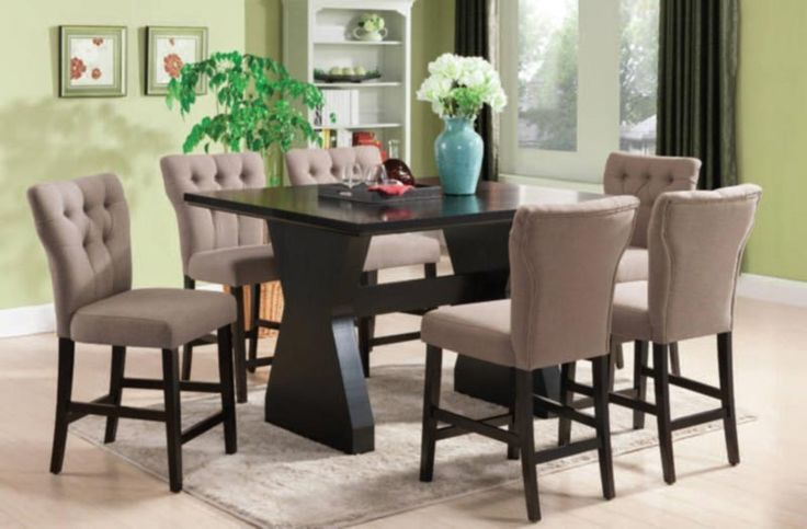 Acme Furniture - Effie 6 Piece Counter Height Table Set in Espresso - 71520-LB-7SET