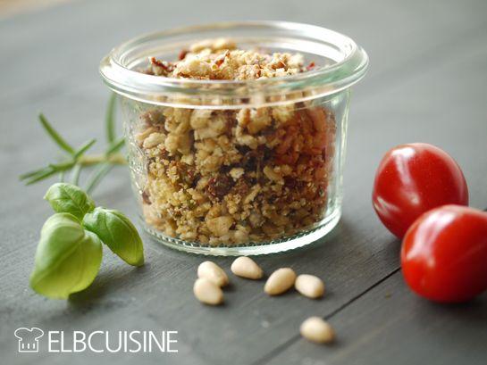 Mediterrane Streusel – leckere Würze für Raclette oder Fleisch-Fondue!