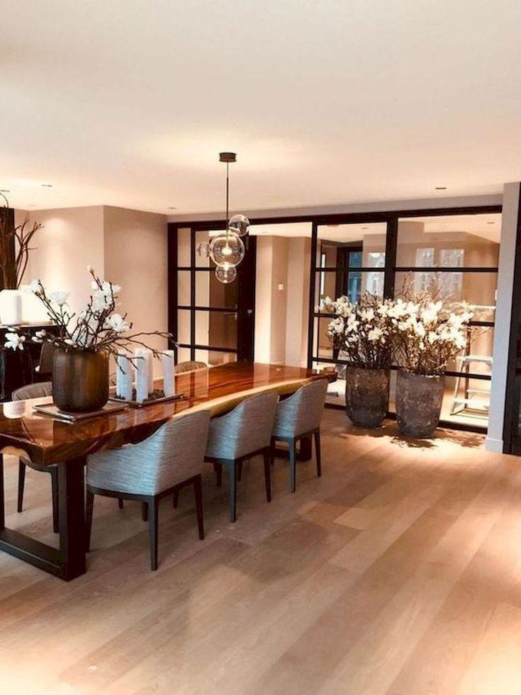 80 Elegant Modern Dining Room Design And Decor Ideas In 2020