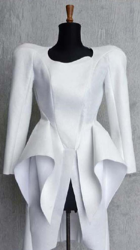 Innovative Pattern Cutting - sculptural dress design based on Mugler A/W 2013; fashion design; creative sewing inspiration