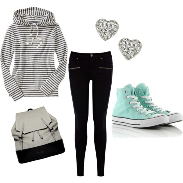 A fashion look from September 2013 featuring Old Navy hoodies, Warehouse jeans and Converse sneakers. Browse and shop related looks.