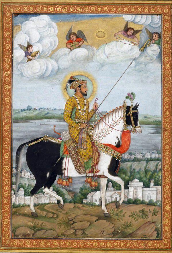 ShahJahan Mughal miniature paintings, Art, Horse painting