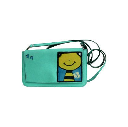 Painted leather clutch,many colours available, ipad case, wallet, travel bag, genuine leather women clutch, mini bag,