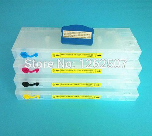 For Epson 4400 Cartridge refill For Epson Stylus Pro 4400 Refillable cartridge T6141-T6144 Printer cartridges 4colors 300ml