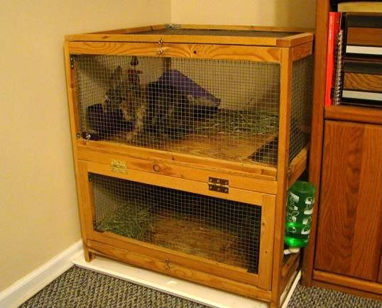 Another indoor rabbit cage nice simple compact for Simple rabbit hutch plans