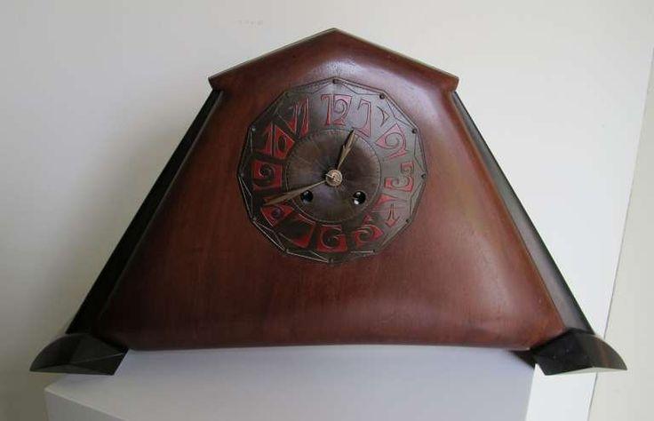 Amsterdam School Clock by Fons Reggers, Dutch Art Deco