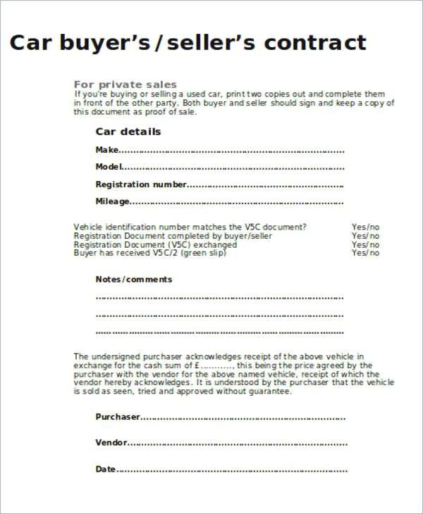 Business Sale Contract Template Contract Template Sell Car For Sale Sign