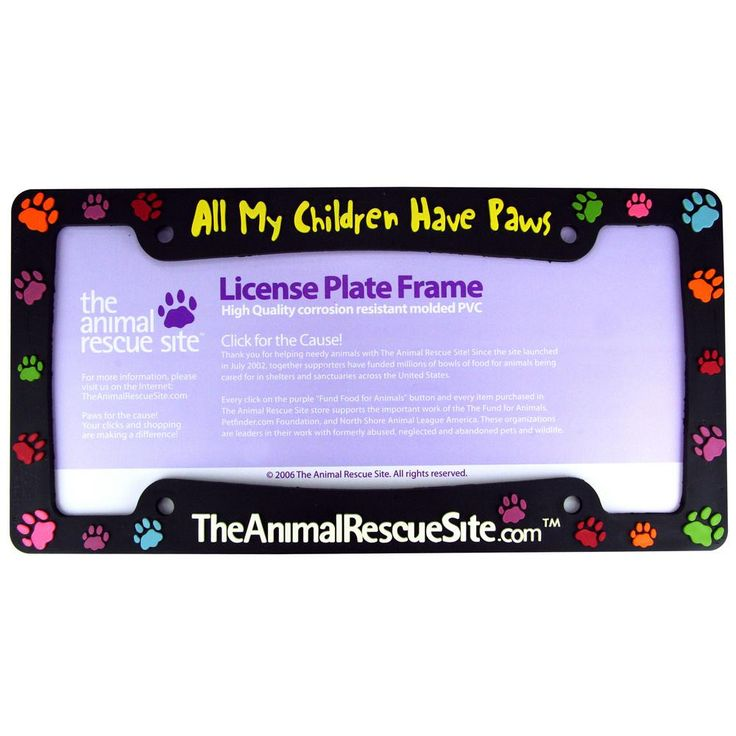 """All My Children Have Paws"" License Plate Frame – GreaterGood"