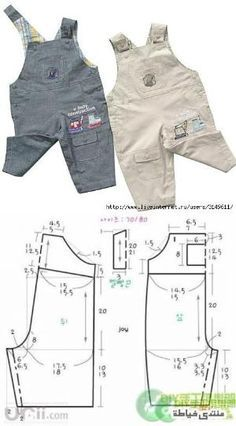 Super cute overalls sewing pattern for kids and babies. Instructions in Russian, but pattern pieces there....