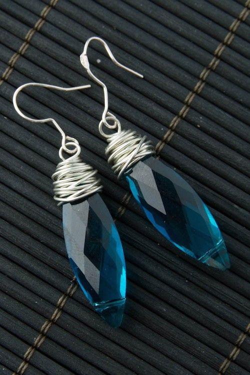 Macy Earrings - Light Blue