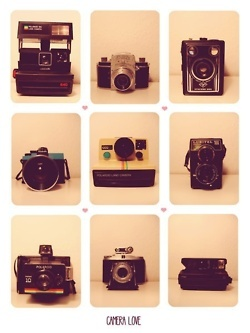 polaroids, I want! not because I'm a photographer, but because I want to feel like one on occasions