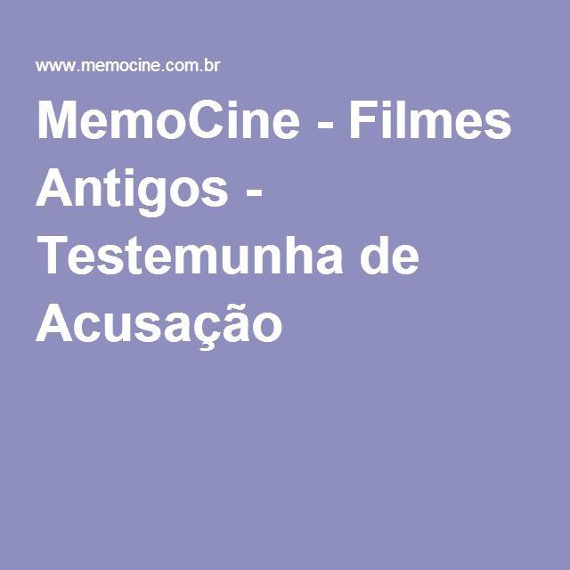MemoCine - Filmes Antigos - Testemunha de Acusação