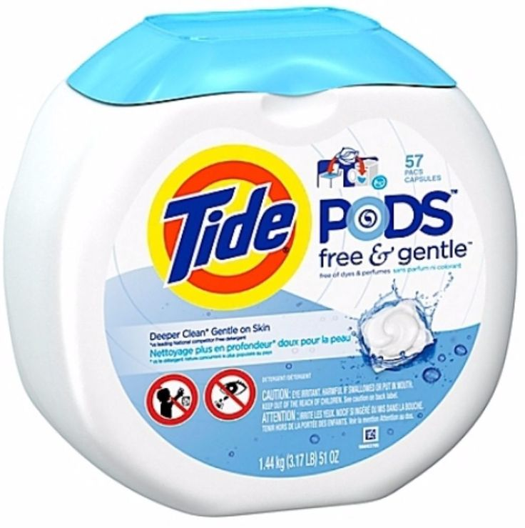 57count Laundry Detergent Laundry Pods Tide Free Gentle