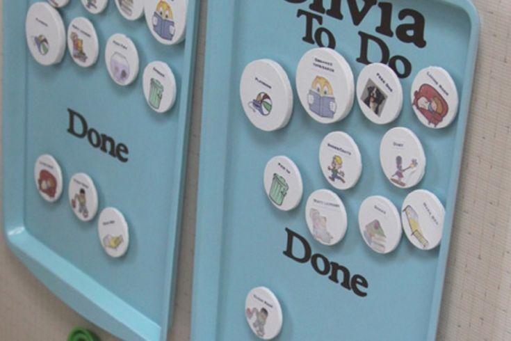 Comment bricoler un tableau des taches ménagères magnétique, pour les enfants!