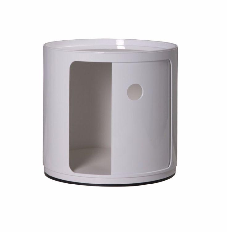 ファッション現代デザインプラスチックラウンドクラシック収納キャビネット、大きな多機能収納引き出し付き、低サイドテーブル収納
