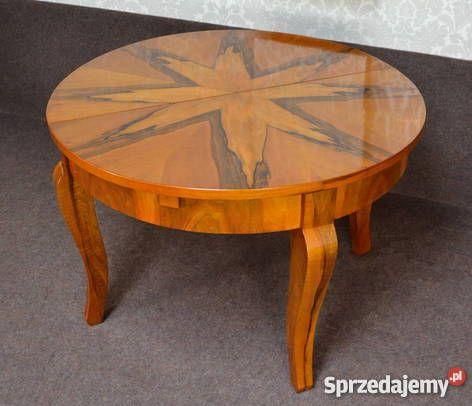 Stół Art Deco okrągły rozkładany średnica 119 Kobylnica 2950zł