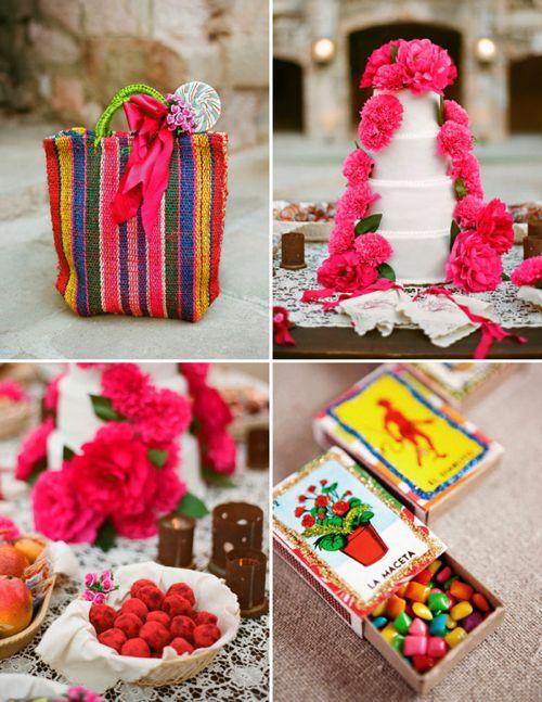 Pastel y dulces decorados con rosa mexicano - Foto Aaron Delesie