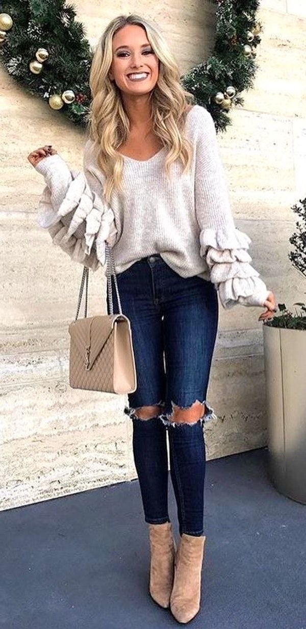 100+ Perfect Outfit Ideas To Finish This Winter With Style 7a1b8d992651