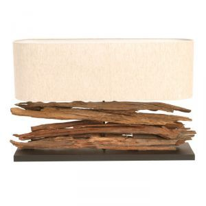 Arrington Driftwood Lamp with Shade