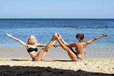 Partner Yoga Stunt