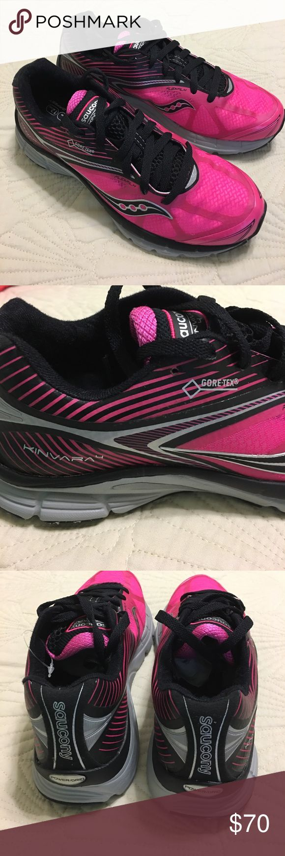 Brand New Saucony Kinvara 4 Brand new Saucony Kinvara 4 Women's running shoe. Size  7.5 SUPER cute and no longer available in stores! Never worn! Still have tissue but no box. Saucony Shoes Sneakers