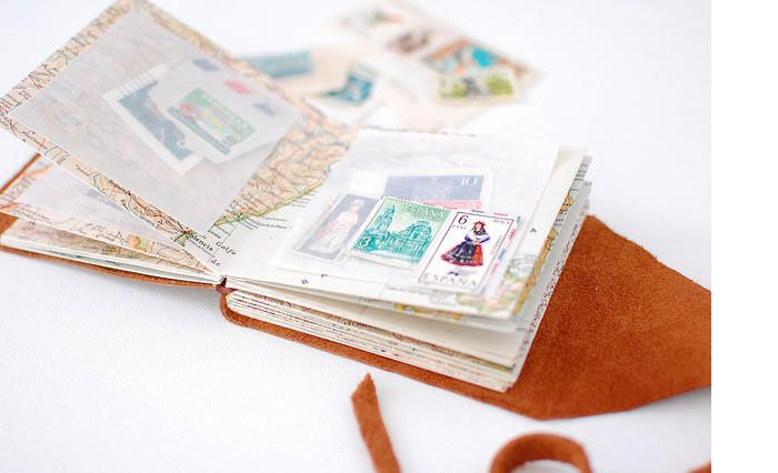 diy mini stamp collecting book