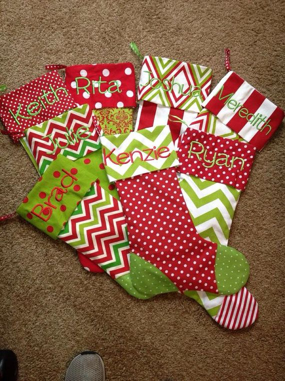 Ideas For Christmas Stockings best 25+ monogrammed christmas stockings ideas on pinterest | felt