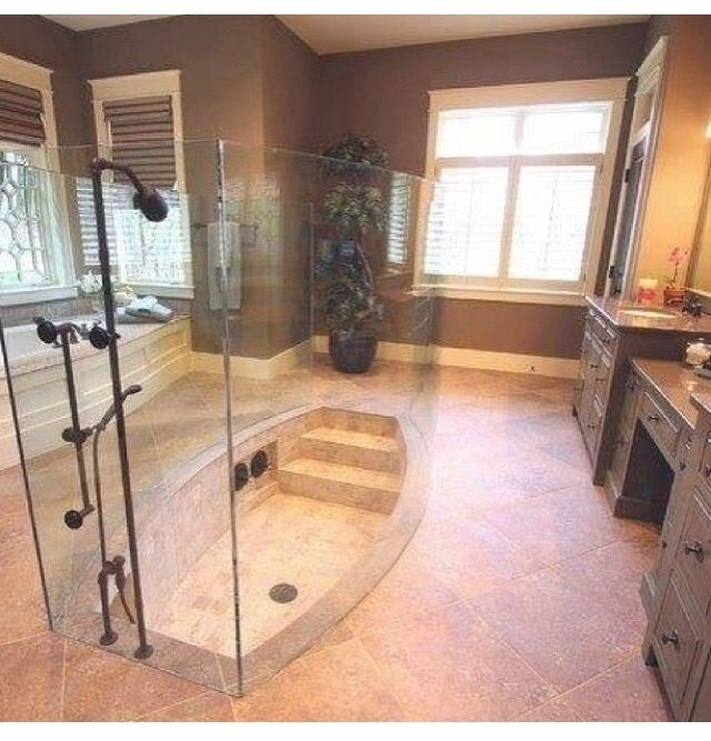 22 best images about bathrooms on pinterest double for Sunken tub ideas