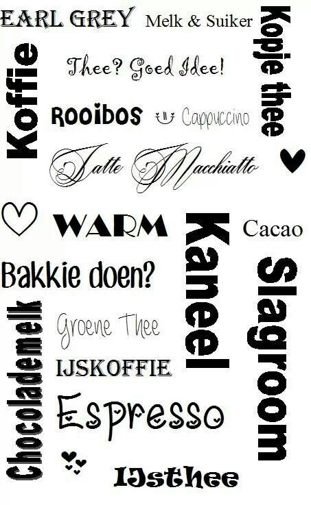 Thee of koffie.... tekst....