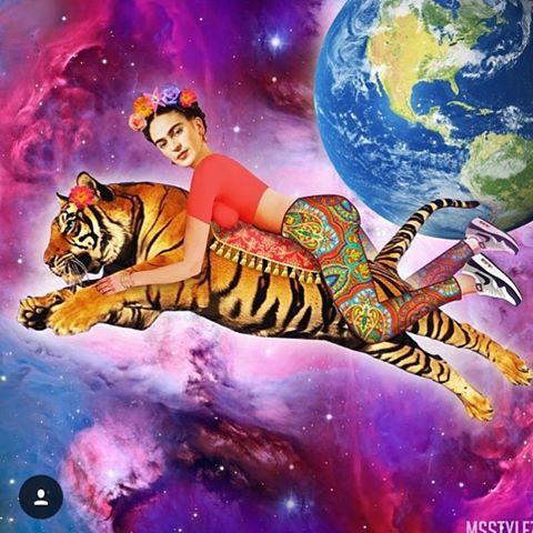 #fridhakahlo #ridethetiger #cosmicfog @nalintha_lala @jonstory