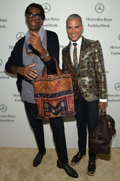 J. Alexander Miss J. Alexander and Jay Manuel attend the Mercedes-Benz Star Lounge during Mercedes-Benz Fashion Week Spring 2014 at Lincoln ...