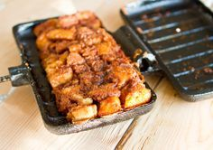 Pie Iron Recipe: Butterscotch Monkey Bread - Great campsite dessert!