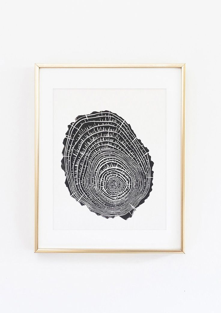 Set Forth Studio – Rings Linocut Print, $45 // This tree stump cross-section art print will look gorgeous on your wall, and makes a great gift. Buy it now in the shop!