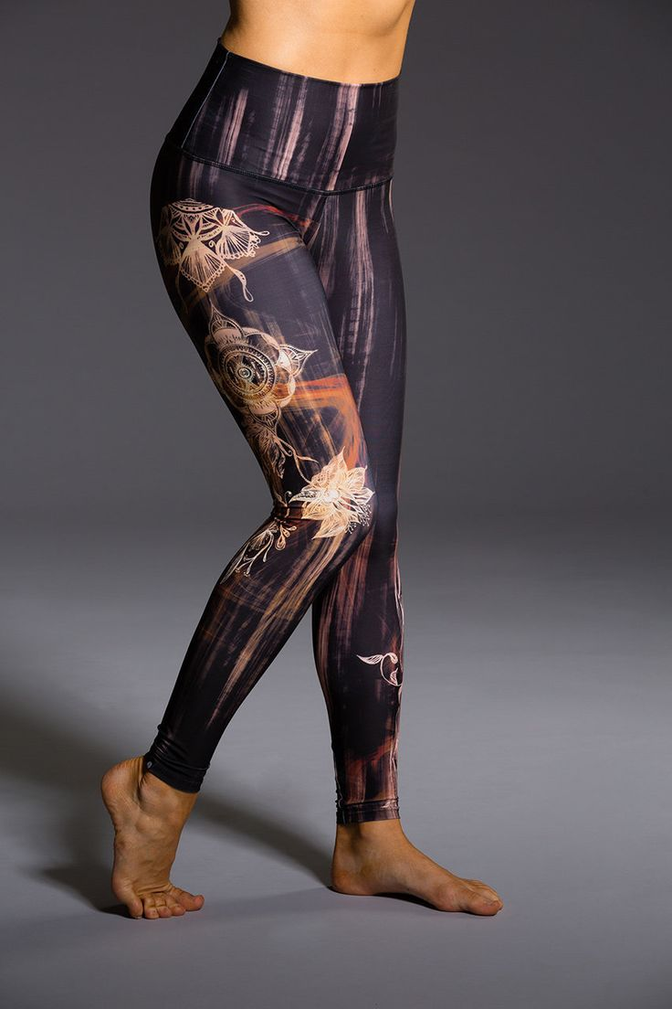 High Rise Graphic Legging - Henna | Onzie