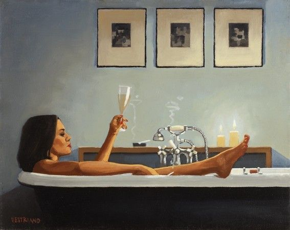 Jack Vettriano Painting = OBE born Jack Hoggan, is a Scottish painter. His 1992 painting, The Singing Butler, became a best-selling image in Britain. Born at November 17, 1951 (age 64), Methil, Fife, United Kingdom Period. Contemporary art Education, University of St. Andrews Artwork - Bluebird at Bonneville, After The Thrill Is Gone.