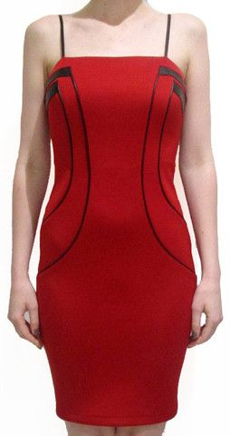 Bodice Contour Dress - Fire Red See the full collection at www.colorsonair.com