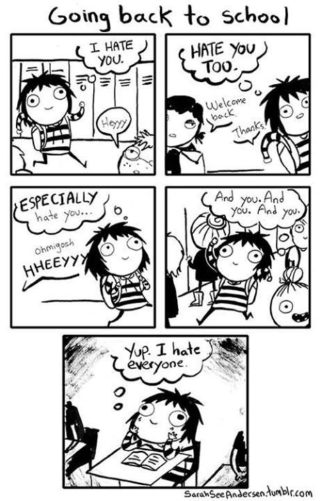 Doodle Time: Sarah See Andersen Comics. She's so funny :3