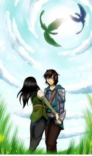 Eragon ♥ Arya ||| Saphira ♥ Firnen | Couples I like | Pinterest