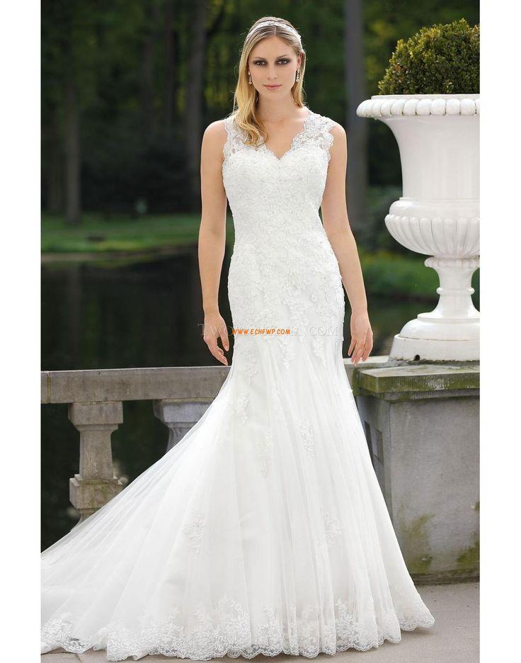 Délka dvorní Výstřih do V Satén Luxusní svatební šaty
