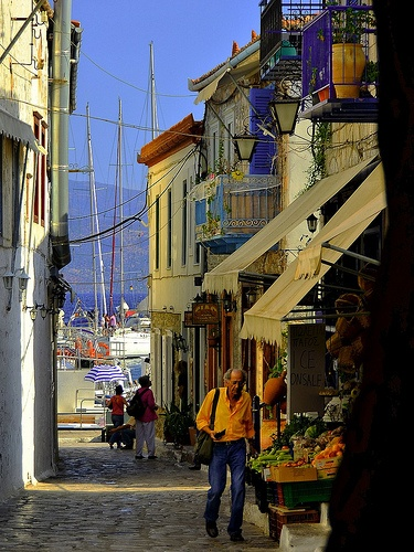 Morning Scene in Hydra Town (YDRA) Greece